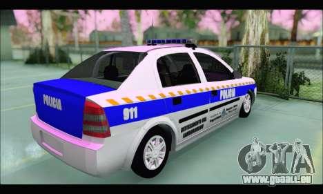 Chevrolet Astra Policia Vial Bonaerense pour GTA San Andreas sur la vue arrière gauche