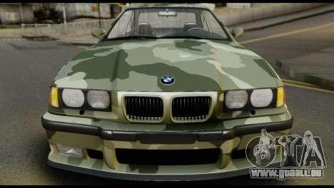 BMW M3 E36 Camo Drift pour GTA San Andreas vue de droite