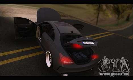 Mercedes Benz CLA 250 2014 pour GTA San Andreas vue de dessus