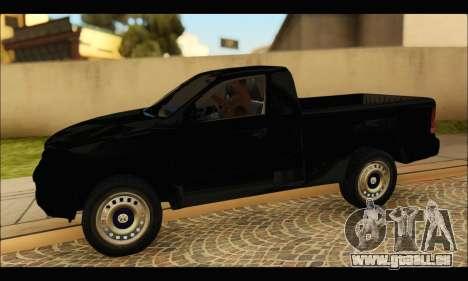 Volkswagen Amarok Cabina Simple pour GTA San Andreas laissé vue