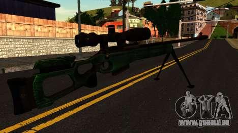 SV-98 avec un Bipied et Champ d'application pour GTA San Andreas deuxième écran