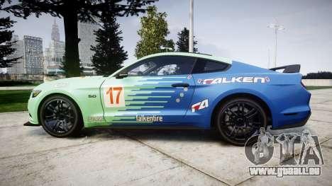 Ford Mustang GT 2015 Custom Kit falken pour GTA 4 est une gauche