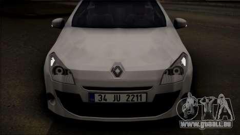 Renault Megane Sport Tourer 1.5 DCI 2011 pour GTA San Andreas sur la vue arrière gauche