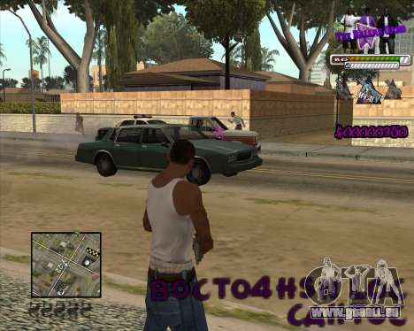 C-HUD for Ballas für GTA San Andreas dritten Screenshot