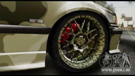 BMW M3 E36 Camo Drift pour GTA San Andreas vue intérieure