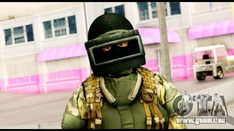 Support Troop from Battlefield 4 v2 pour GTA San Andreas troisième écran
