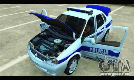 Chevrolet Corsa Policia Bonaerense für GTA San Andreas Rückansicht
