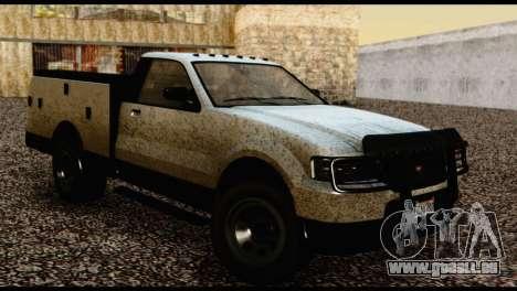 Utility Van from GTA 5 pour GTA San Andreas sur la vue arrière gauche