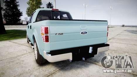 Ford Lobo 2012 pour GTA 4 Vue arrière de la gauche