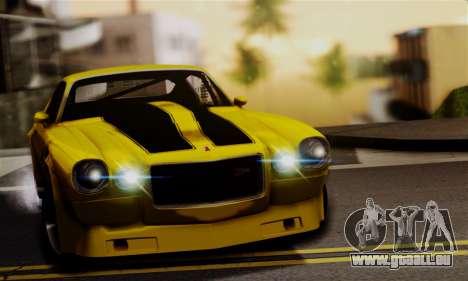 Chevrolet Camaro Mk.II pour GTA San Andreas vue arrière
