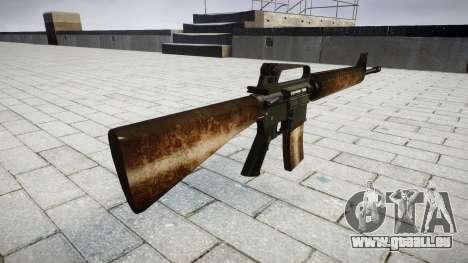 Le M16A2 fusil poussiéreux pour GTA 4 secondes d'écran