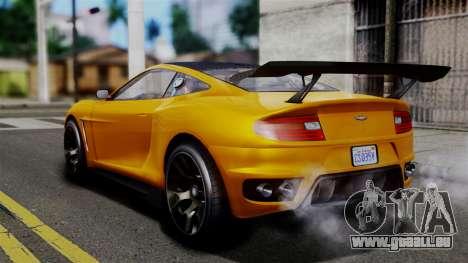 GTA 5 Dewbauchee Massacro Racecar SA Mobile für GTA San Andreas linke Ansicht