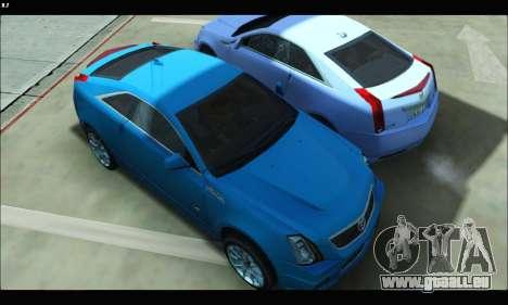 Cadillac CTS-V Coupe pour GTA San Andreas sur la vue arrière gauche