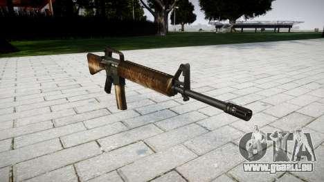 Die M16A2 Gewehr dusty für GTA 4
