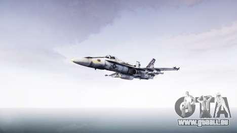 McDonnell Douglas FA-18 Hornet pour GTA 4 Vue arrière de la gauche