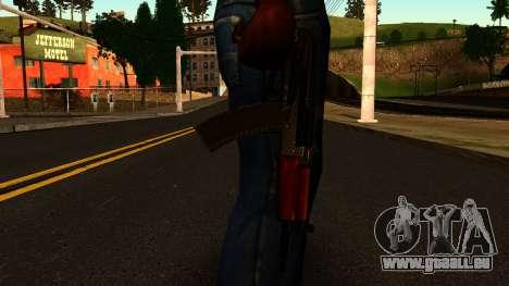 Sombre AKS-74U v2 pour GTA San Andreas troisième écran