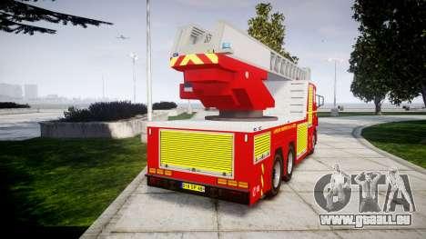 Scania R580 Paris Fireladder [ELS] pour GTA 4 Vue arrière de la gauche