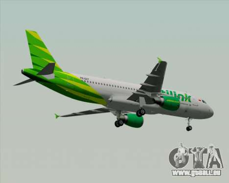 Airbus A320-200 Citilink für GTA San Andreas Räder