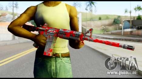 M4 with Blood für GTA San Andreas dritten Screenshot