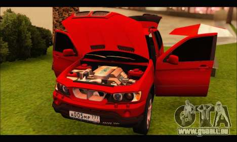 BMW X5 für GTA San Andreas Innenansicht
