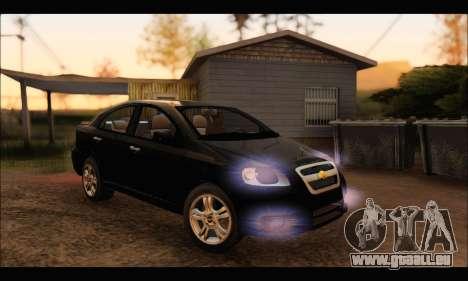 Chevrolet Aveo LT 2010 pour GTA San Andreas