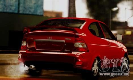Lada Priora Sport pour GTA San Andreas laissé vue