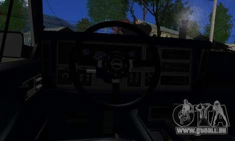 Jeep Mini-Truck pour GTA San Andreas sur la vue arrière gauche