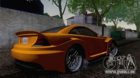 Benefactor Feltzer GTA V pour GTA San Andreas sur la vue arrière gauche