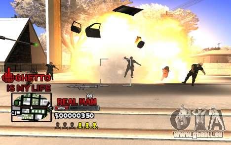 С-HUD Ghetto ist Mein Leben für GTA San Andreas zweiten Screenshot