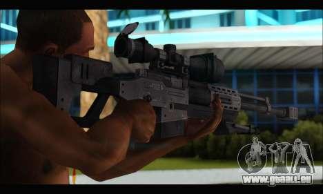 Raab KM50 Sniper Rifle From F.E.A.R. 2 pour GTA San Andreas quatrième écran