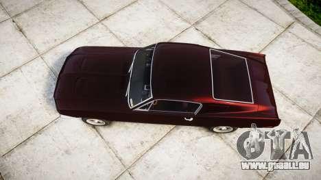 Ford Mustang GT Fastback 1968 pour GTA 4 est un droit