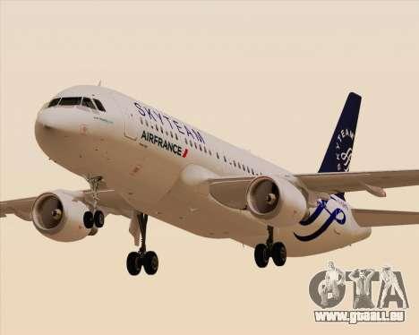 Airbus A320-200 Air France Skyteam Livery pour GTA San Andreas sur la vue arrière gauche