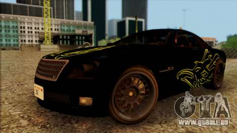 Schyster Fusilade Sport 1.0 (HQLM) pour GTA San Andreas vue arrière