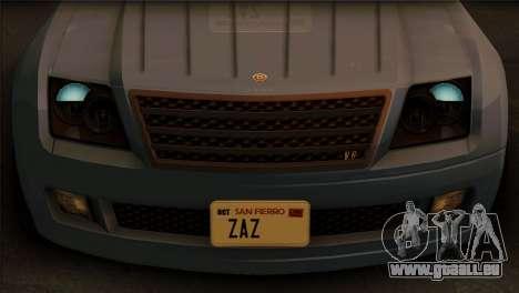 Schyster Fusilade Sport 1.0 (IVF) pour GTA San Andreas sur la vue arrière gauche