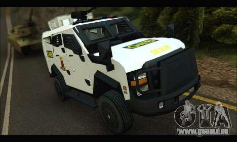 Oshkosh Sand Cat GNB pour GTA San Andreas laissé vue