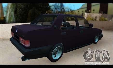 Tofas Dogan S pour GTA San Andreas sur la vue arrière gauche