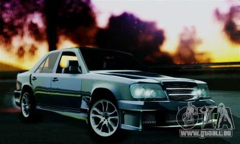 Mercedes-Benz W124 BRABUS V12 für GTA San Andreas zurück linke Ansicht