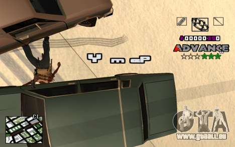 C-HUD Advance RP für GTA San Andreas her Screenshot
