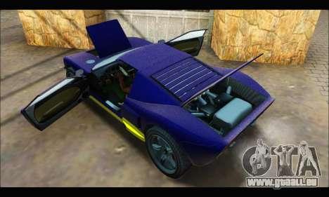 Vapid Bullet Gt (GTA IV) (LC Plate) pour GTA San Andreas vue intérieure