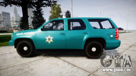 Chevrolet Tahoe 2013 Game Warden [ELS] für GTA 4 linke Ansicht