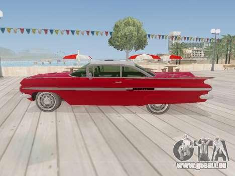 Chevrolet Impala 1959 pour GTA San Andreas vue de droite
