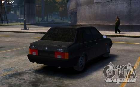 VAZ 21099 pour GTA 4 Vue arrière de la gauche