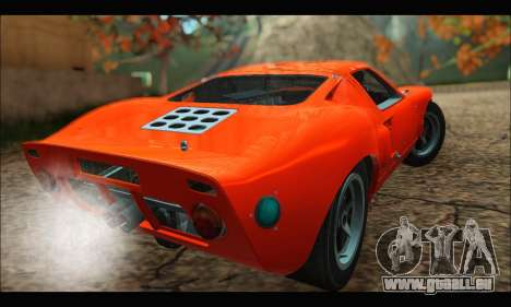 Ford GT40 MKI 1965 pour GTA San Andreas sur la vue arrière gauche