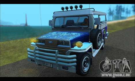 Jeepney from Binan für GTA San Andreas linke Ansicht