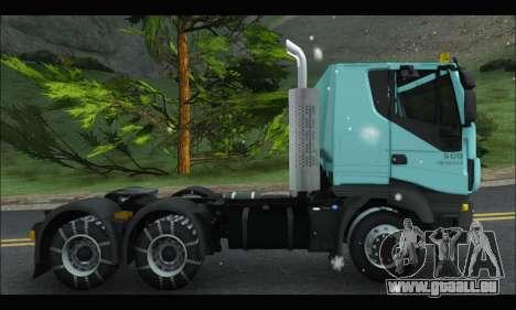 Iveco Trakker 2014 Snow pour GTA San Andreas sur la vue arrière gauche