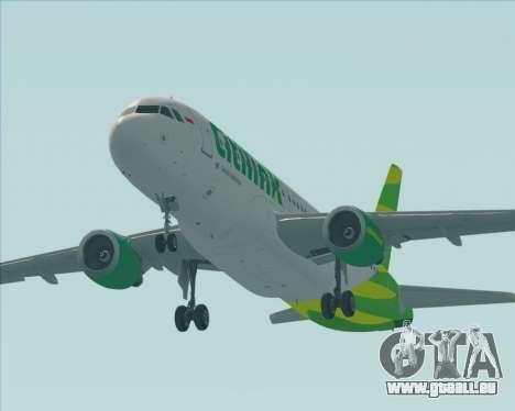 Airbus A320-200 Citilink pour GTA San Andreas moteur