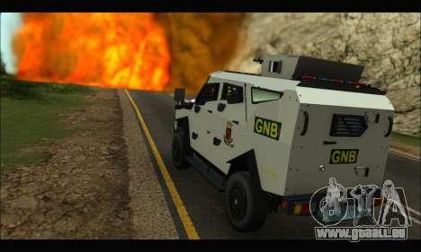 Oshkosh Sand Cat GNB pour GTA San Andreas vue de droite
