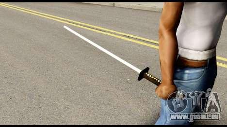 GreyFox Katana from Metal Gear Solid für GTA San Andreas zweiten Screenshot