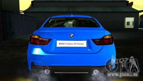 BMW 4-Series Coupe M Sport 2014 für GTA San Andreas Rückansicht