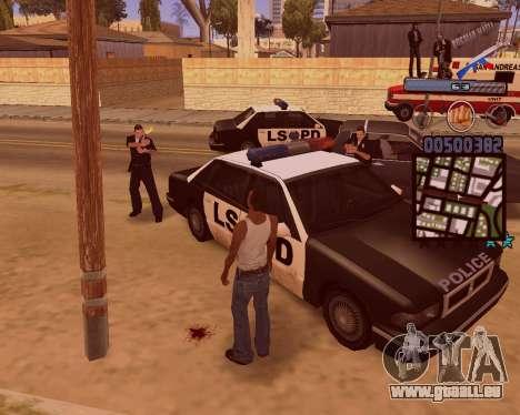C-HUD Russian Mafia pour GTA San Andreas cinquième écran
